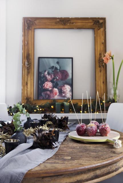 Винтажный интерьер с рождественским декором