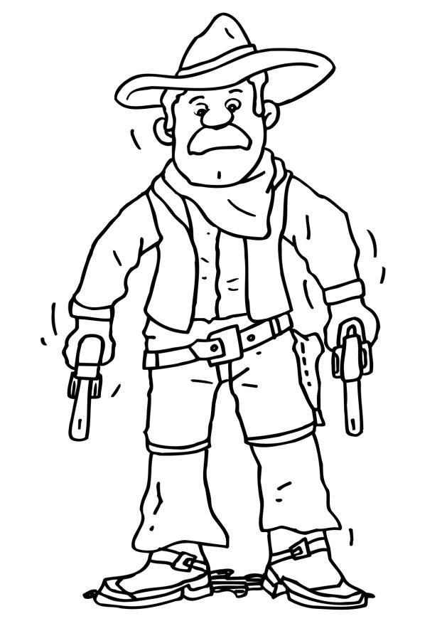 Cowboys Coloring Pages | Learn To Coloring