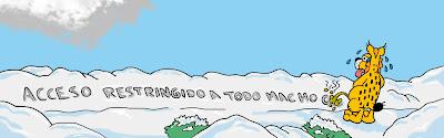 Marcando territorio en la nieve