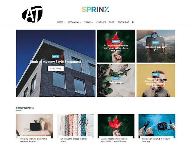 Sprinx Blogger Template