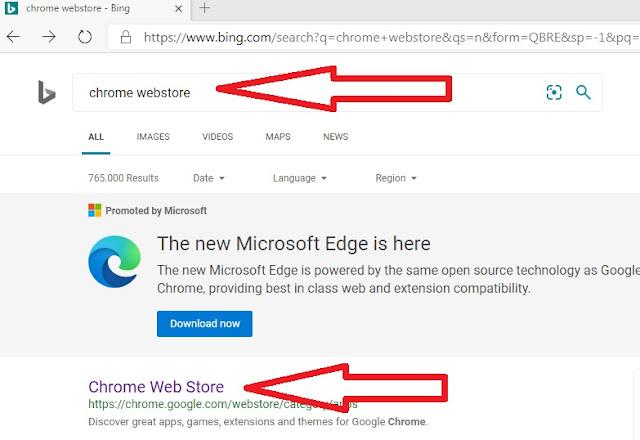 Cara menginstal Tema dari Extension Chrome Di Microsoft Edge Chromium