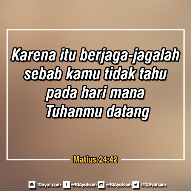 Matius 24:42