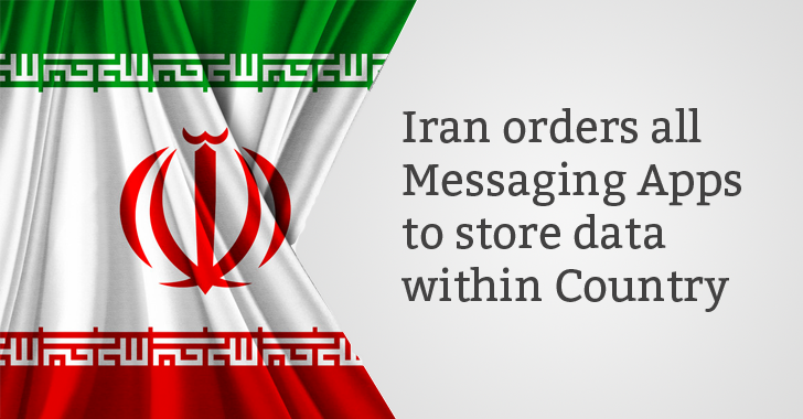 Iran orders all Messaging Apps to store its citizens' data within Country