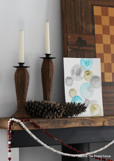 Simple Winter Mantel and Trying New Things