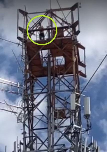 Homem tenta suicídio em torre de telefonia e é resgatado por Bombeiros no Paraná