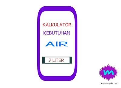 Menghitung Kebutuhan Air Minum Per Hari Dengan Aplikasi Kalkulator