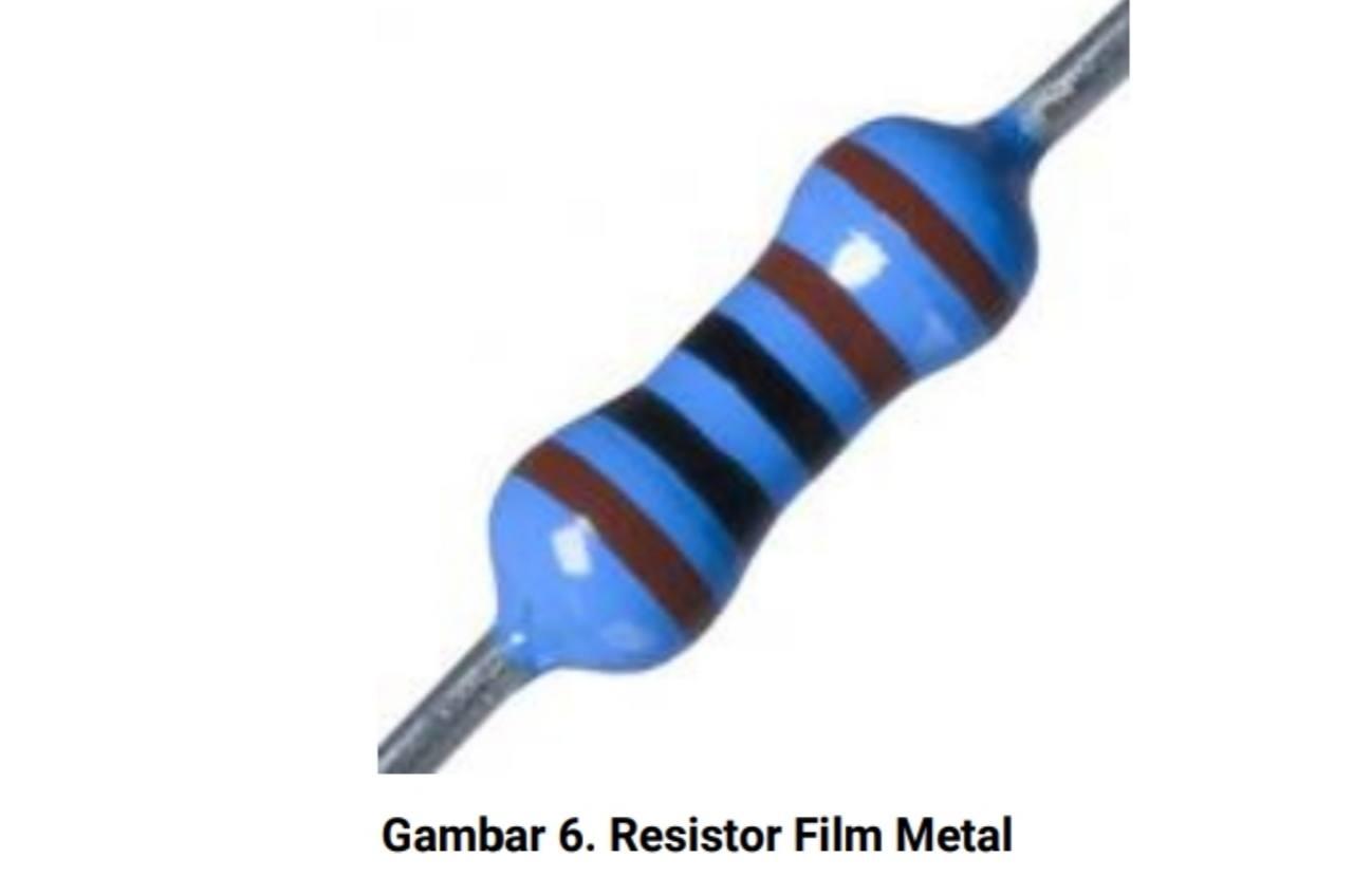 Jenis resistor film metal