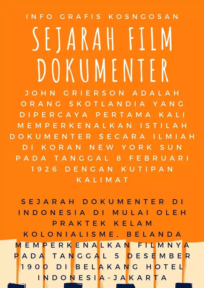 infografis film dokumenter indonesia