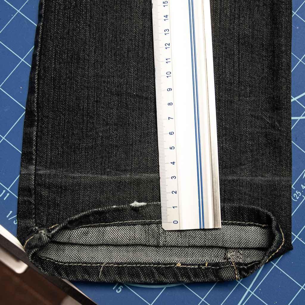minn's things faulty fashion how to shorten jeans pants tutorial saving original hem step 3 measuring