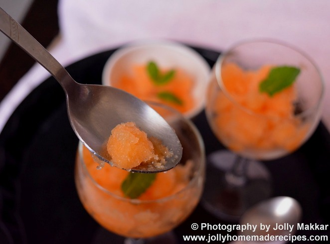 Musk Melon Granita Recipe