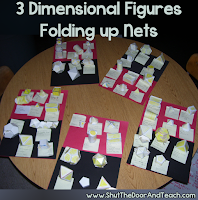 Folding up nets for 3 dimensional figures