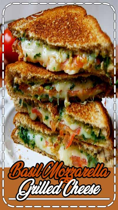 Basil mozzarella grilled cheese by enjoyeverybite on #kitchenbowl