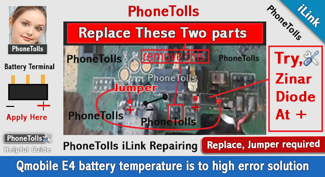Qmobile E4 Battery Temperature Is Too High Error Solution