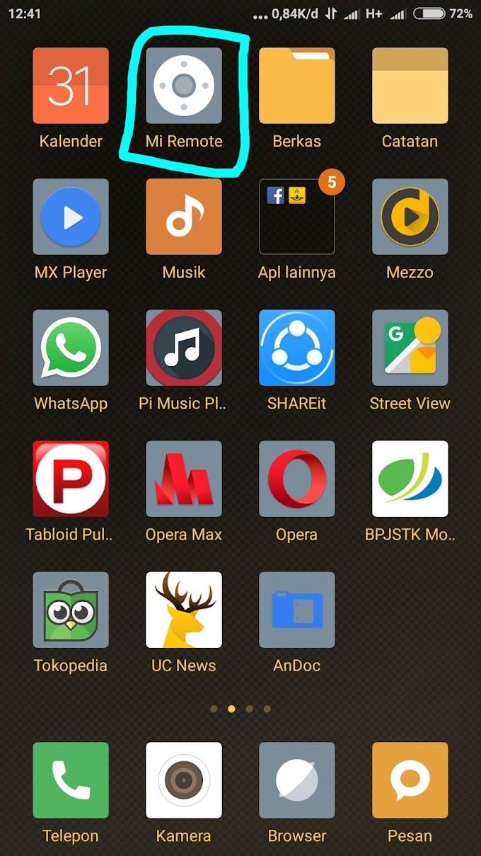 Cara menggunakan Mi Remote di hp Xiaomi