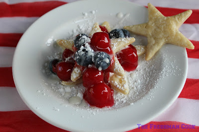 ready to eat, easy to make, cherries, lemon, blueberries, confectioner's sugar