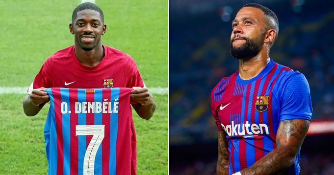 Currently, Dembele leads Barcelona's top 5 most expensive players 2021/2022 Season