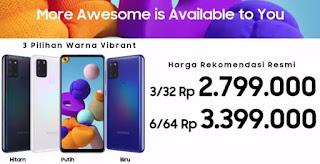 Review Lengkap, Spesifikasi Samsung A21s Yang Siap Menggebrak Pasar Ponsel Di Indonesia