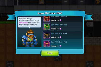 Epic Superheroes Quest Pixel Worlds