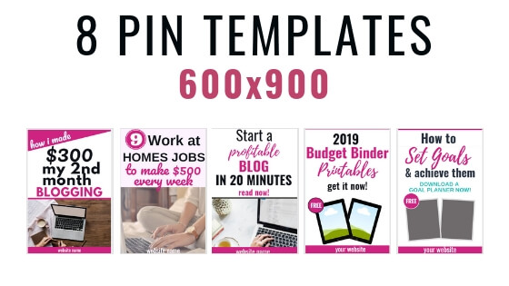 16 Customizable Pinterest Templates