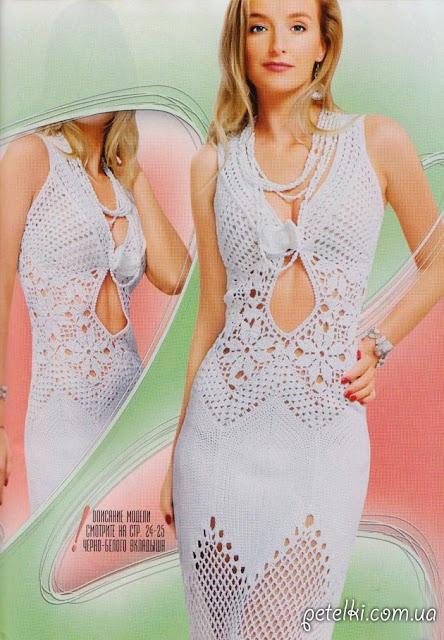 wzor na sukienke szydelkiem