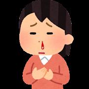 鼻血のイラスト(女性)