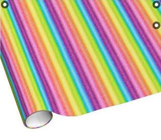 """Rainbow Ices"" Wrapping Paper digital art rainbow stripes"