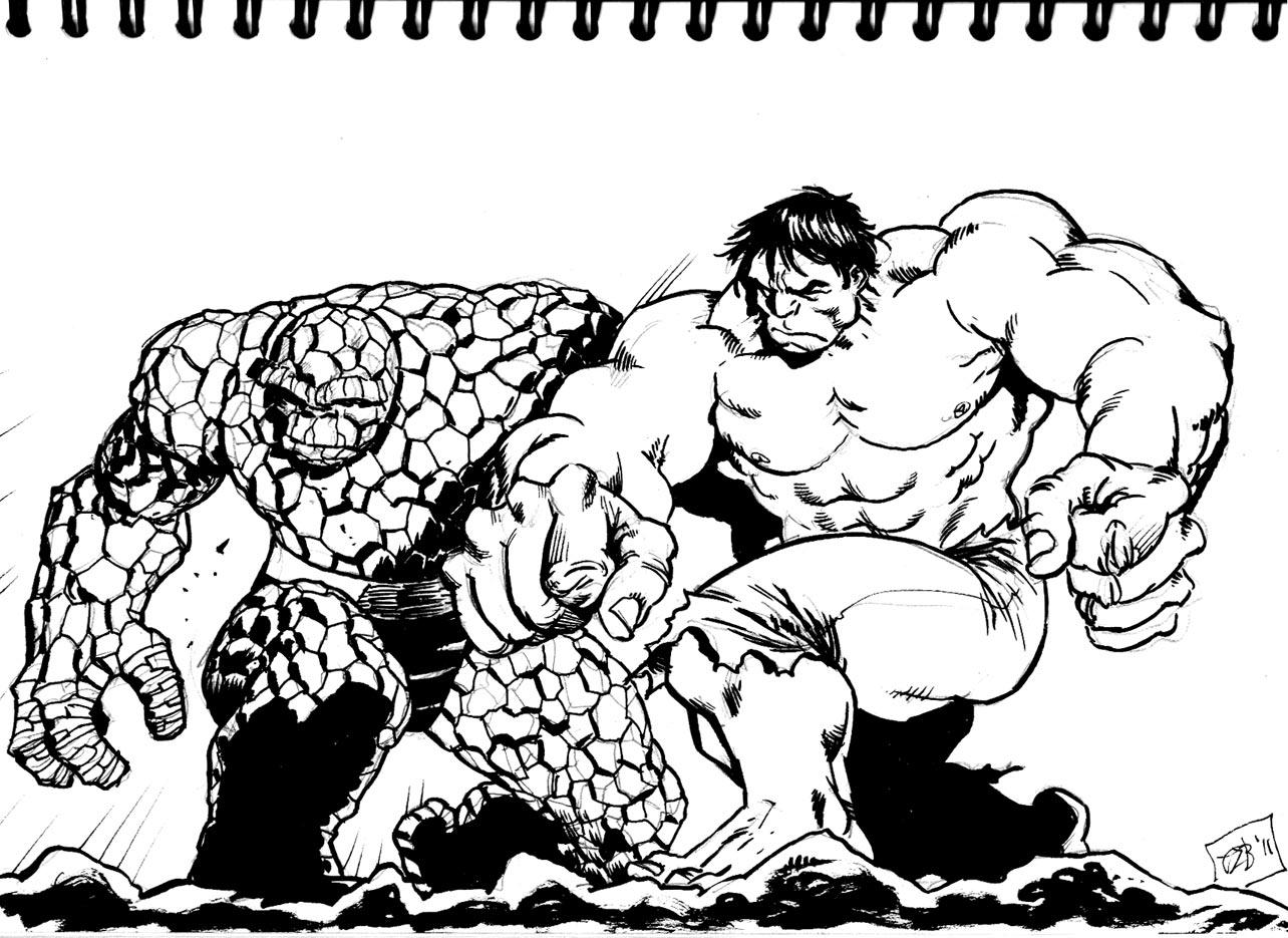 The Drawing Card: Hulk vs Thing