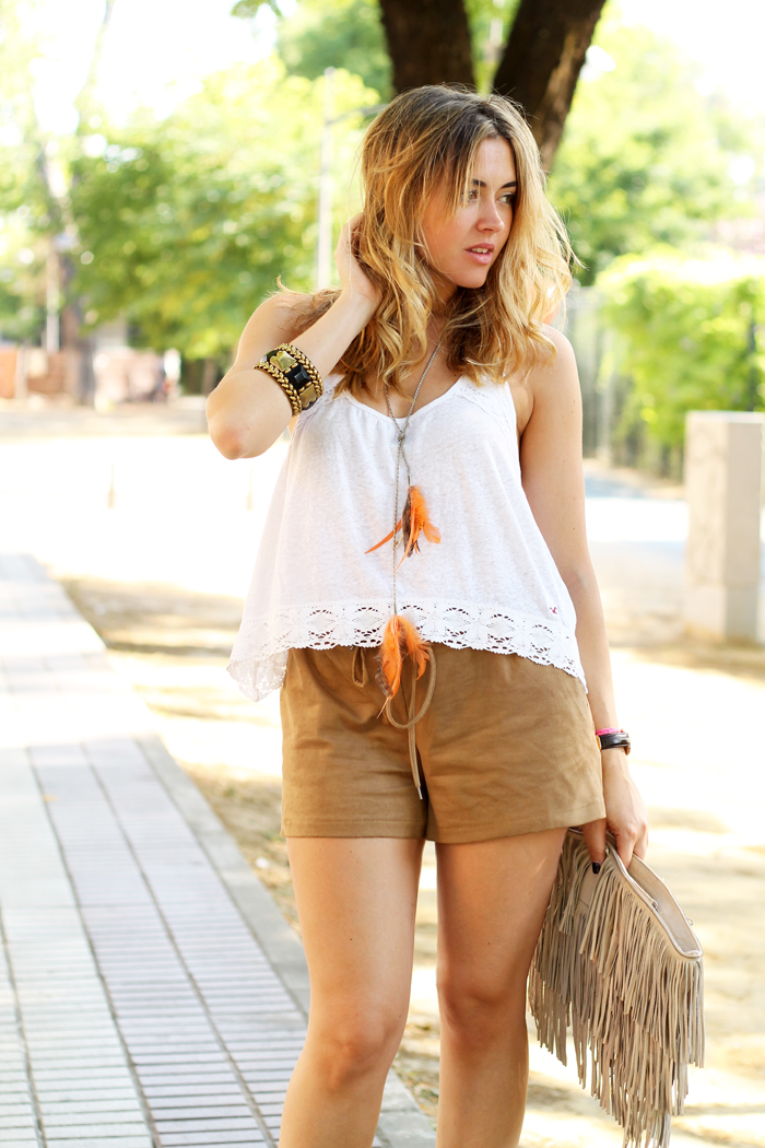 trendy suede shorts