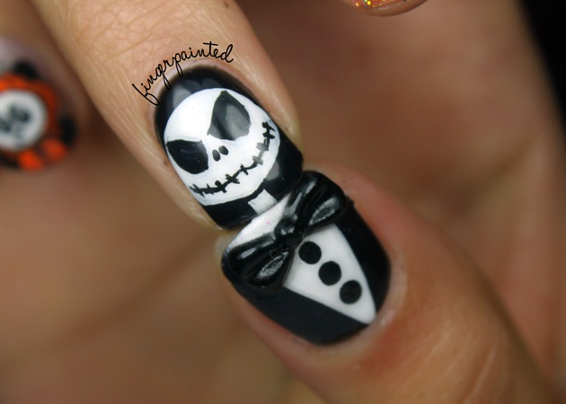 Jack Skellington Nail Designs | Nailic