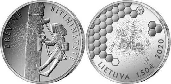 Lithuania 1.5 & 10 euro 2020 - Beekeeping
