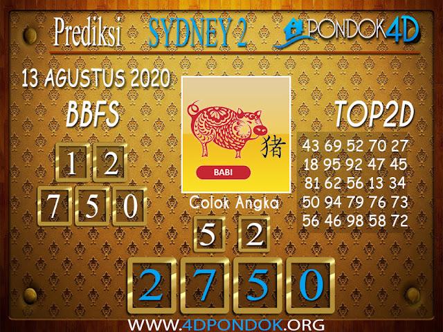 Prediksi Togel SYDNEY 2 PONDOK4D 13 AGUSTUS 2020