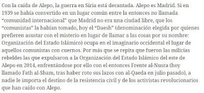 """Próxima resolución """"Ni-Ni"""" y anti-Siria de Izquierda Unida - artículo de Marat publicado el 13/01/2017 en diario Octubre Madrid.%2BAlepo"""