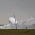Perícia do piloto evita que o avião se despenha-se durante a aterragem