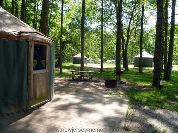 Yurts at Allaire State Park