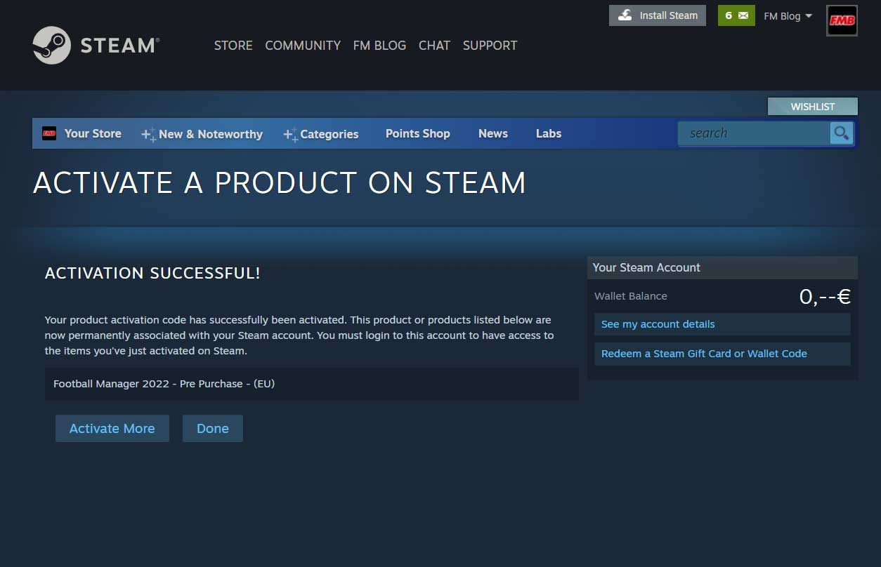 Activate FM22 Steam Key Finish