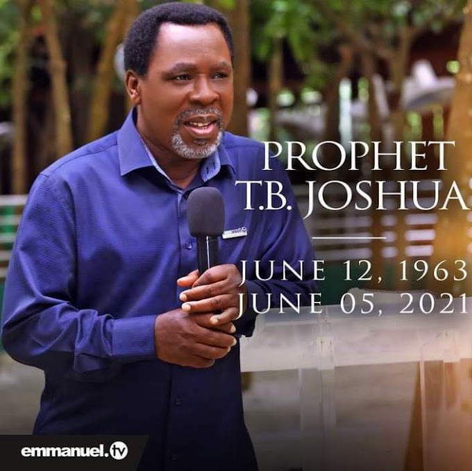 TB Joshua Ministries Confirms his death