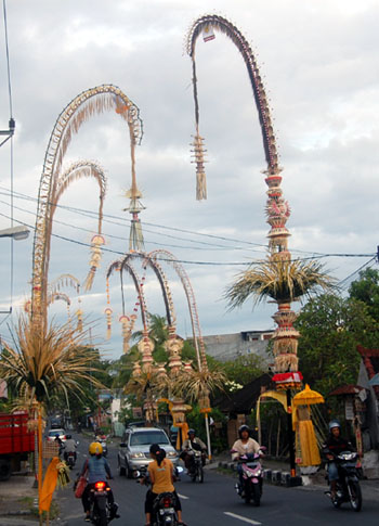 Penjor for Galungan celebrations in August 2012, it must be prepared from now