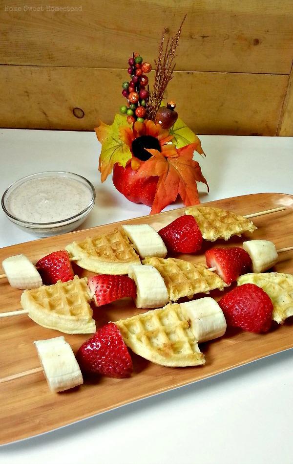 Waffle Fruit Kabobs