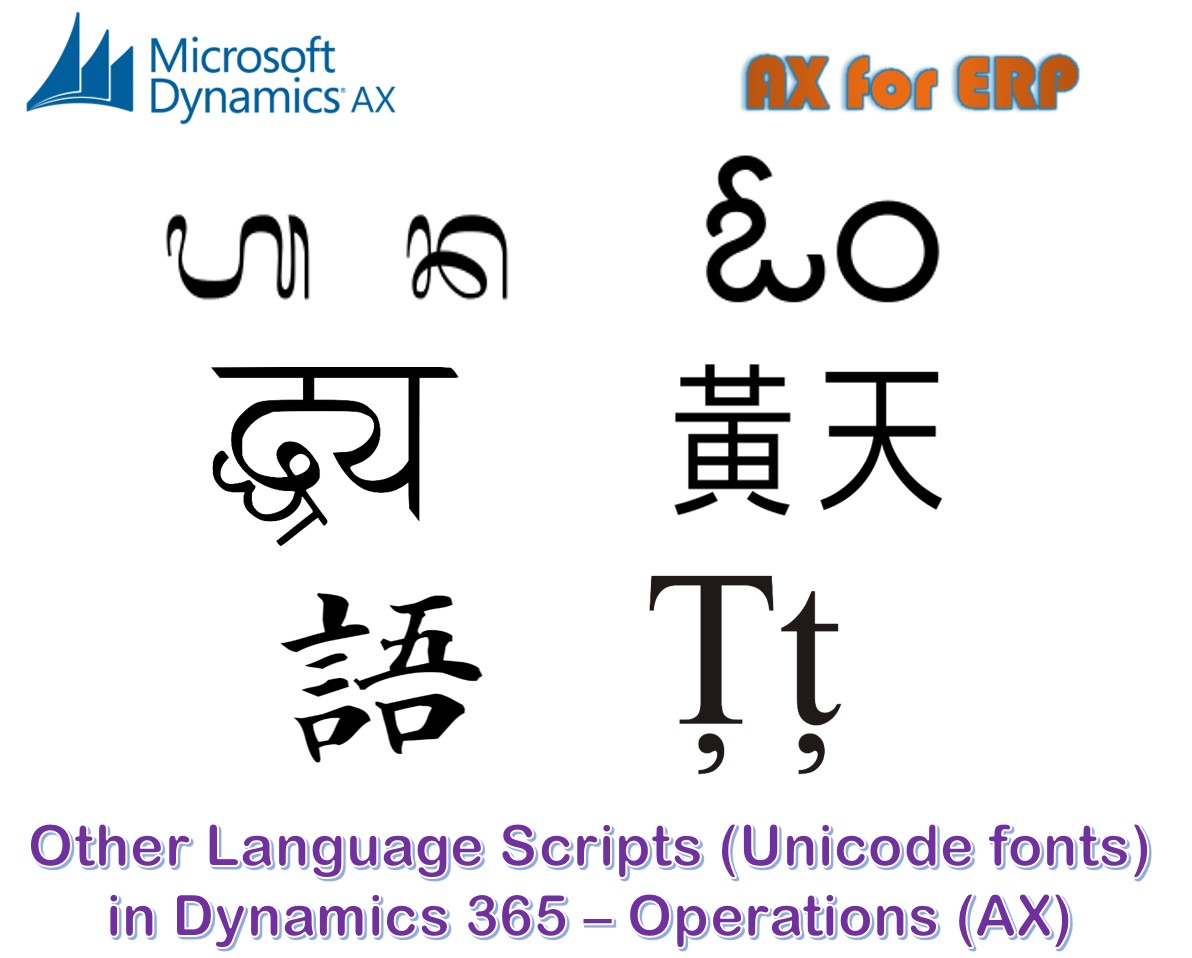 AX for ERP: Dynamics AX forms support multiple language scripts