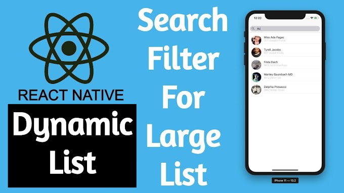 How To Create Search Filter In React Native?