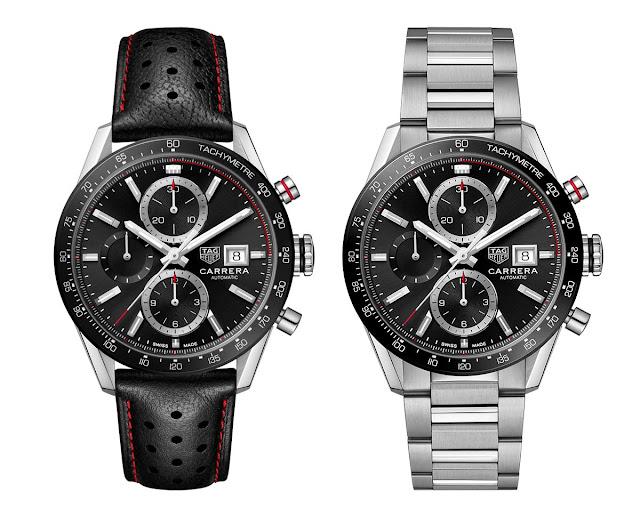 New TAG Heuer Carrera Calibre 16 Chronograph black dial