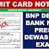 BNP Dewas admit Card Junior Office Assistant Download Now