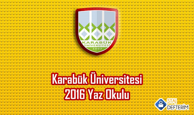 Karabük Üniversitesi 2016 Yaz Okulu