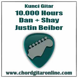 Kord Kunci Gitar Dasar Mudah Versi Original Kunci Gitar 10.000 Hours - Dan + Shay, Justin Beiber