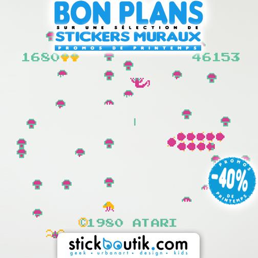 Stickboutik.com - Stickers muraux Atari Centipede à -40%