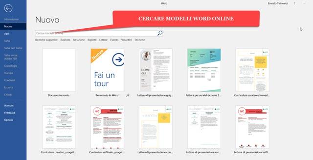 modelli-word-online