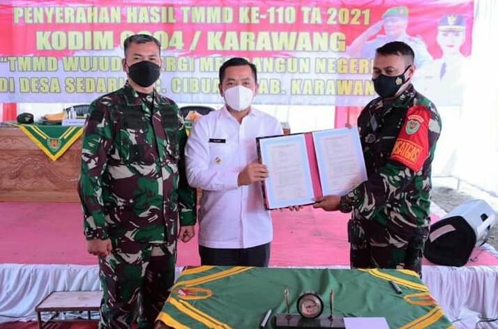 Penutupan TNI Manunggal Membangun Desa (TMMD) ke 110