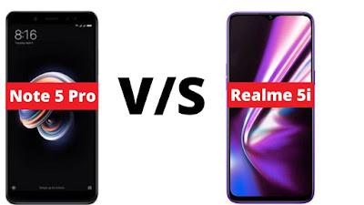 Realme 5i vs Redmi Note 5 pro Full Compare | Perfomance, Camera, Battery