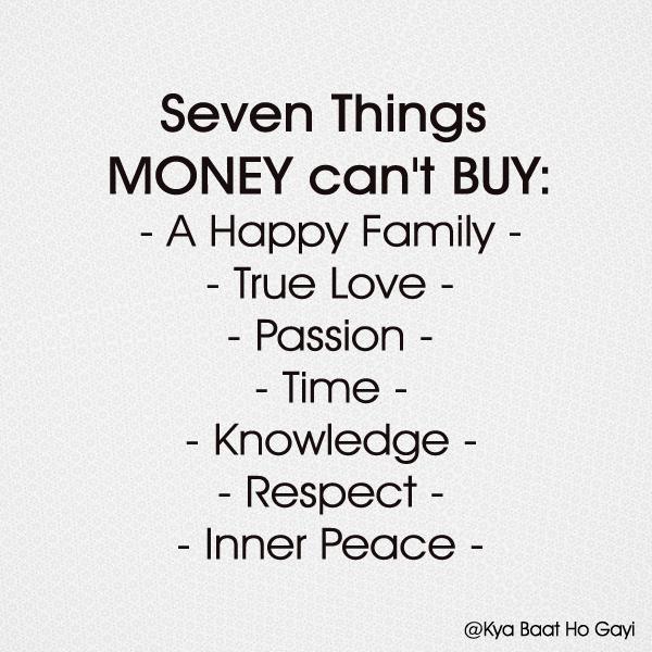Money can t buy love status