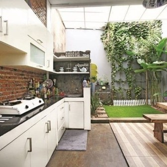 Model lemari dapur sederhana